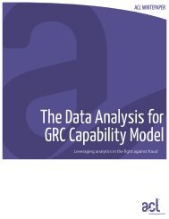 The ACL Audit Analytic Capability Model: Fraud Detection - Acl.com