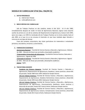 Modelo De Curriculum Pro