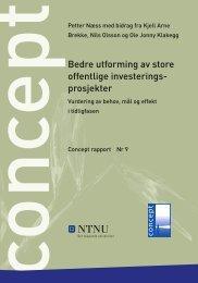 Bedre utforming av store offentlige investerings ... - Concept - NTNU