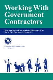 Work w Gov Contracts/Cover - US Office of Government Ethics