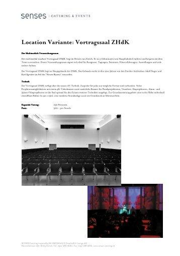 Vortragssaal ZHdK - Senses Catering