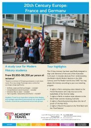 Download the itinerary for this tour (PDF) - School Tours - Academy ...