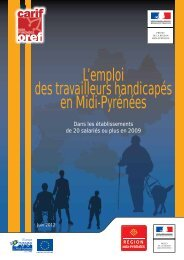 L'emploi des travailleurs handicapés en Midi-Pyrénées - Direccte