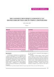 Mecanismele biochimice si biofizice ale distrugerilor tisulare in ...