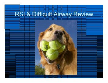 2009 RSI & Difficult Airway Review for website.ppt ... - Vbems.com