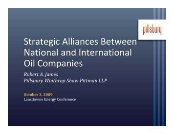 Strategic Alliances Between National and International Oil Companies