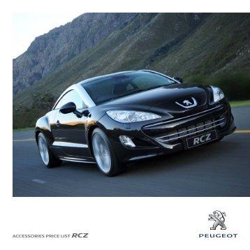 ACCESSORIES PRICE LIST RCZ - Peugeot