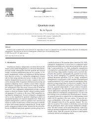 Quantum exam - KIAS