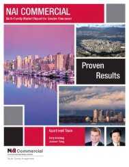 Multi-family Market Report for Greater Vancouver - NAI Commercial ...