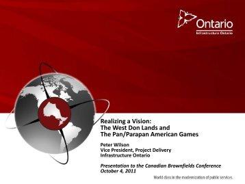 Lunch Keynote – Peter Wilson - Canadian Brownfields