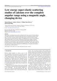 Low energy super-elastic scattering studies of calcium - the Group ...
