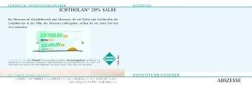 Patientenbroschüre Abszesse - ichthyol