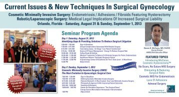 Current Issues & New Techniques In Surgical Gynecology Cosmetic ...