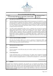 SYSTEM REQUIREMENTS SPECIFICATION (SyRS) - Project ...