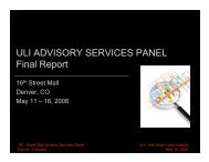 ULI ADVISORY SERVICES PANEL Final Report - Urban Land Institute