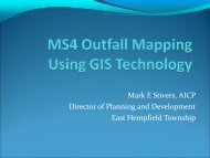 MS4 Outfall & BMP Mapping Using GIS