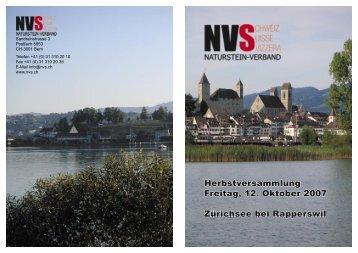 Einladung NVS.indd - Naturstein-Verband Schweiz (NVS)