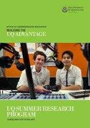 uq summer research program - School of Languages & Comparative ...