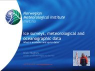 Ice surveys, meteorological and oceanographic data - Arctic Forum ...