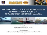 the effectiveness of a road transportation network system in a port city