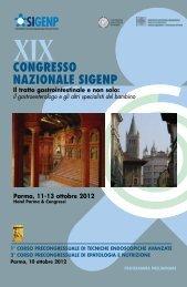 programma preliminare - SIGENP