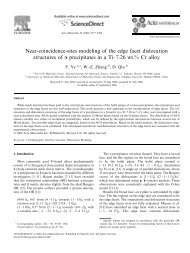 Near-coincidence-sites modeling of the edge facet dislocation ...