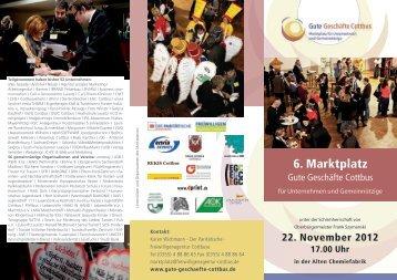 der aktuelle Flyer 2012 - Gute Geschäfte Cottbus!