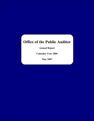 2006 - The Office of Public Accountability
