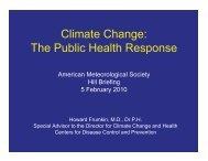 Climate Change: The Public Health Response