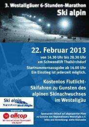 Ausschreibung - Ski alpin