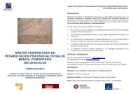 Díptico informativo. - Asociación Española de Neuropsiquiatría