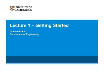 Lecture 1 – Getting Started - many-core.group