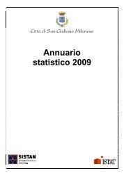 Annuario statistico 2009 - Comune di San Giuliano Milanese