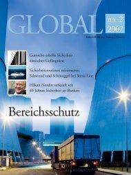 GLOBALZeitschrift für den Gunnebo-Konzern
