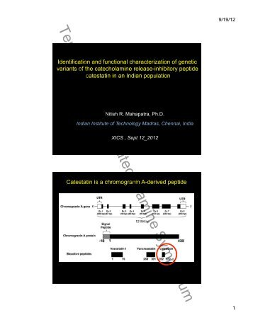 Identification and Functional Characterization of Genetic Variants of ...