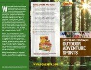 PowerBar Outdoor Adventure Brochure - PowerBar.Com