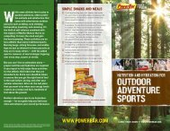 PowerBar Outdoor Adventure Brochure - PowerBar.Com