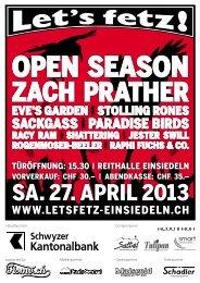 Booklet 2013 - Let's Fetz Einsiedeln