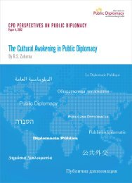 The Cultural Awakening in Public Diplomacy - USC Center on ...
