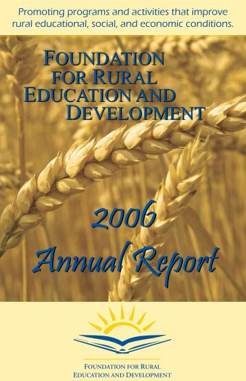 2006 Annual Report - Fred.org