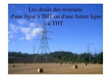 Les droits des riverains d'une ligne à THT ou d'une future ... - Stop-THT