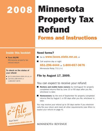Form PDR-1, Minnesota Motor Fuel Claim for Refund