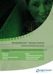 MorphoSecure™ Access Control MorphoSecure™ Access Control