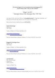 Zimmerkontingente für die Umweltdachverband Jahrestagung 2013 ...