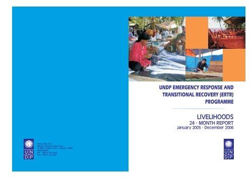 (ERTR) Livelihoods Programme - UNDP