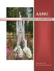 Banner Student Self Service Guide - Alabama A&M University