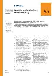 09.05 Oświetlenie placu budowy i stanowisk pracy - Skanska