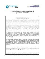 permesso di soggiorno - trascrizioni - ALMA Edizioni