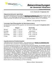 Nr. 33 / Woche 36 / 07. September 2012 - Gemeinde Villnachern