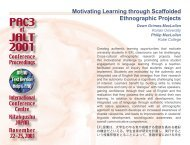 Motivating learning through scaffolded ... - JALT Publications